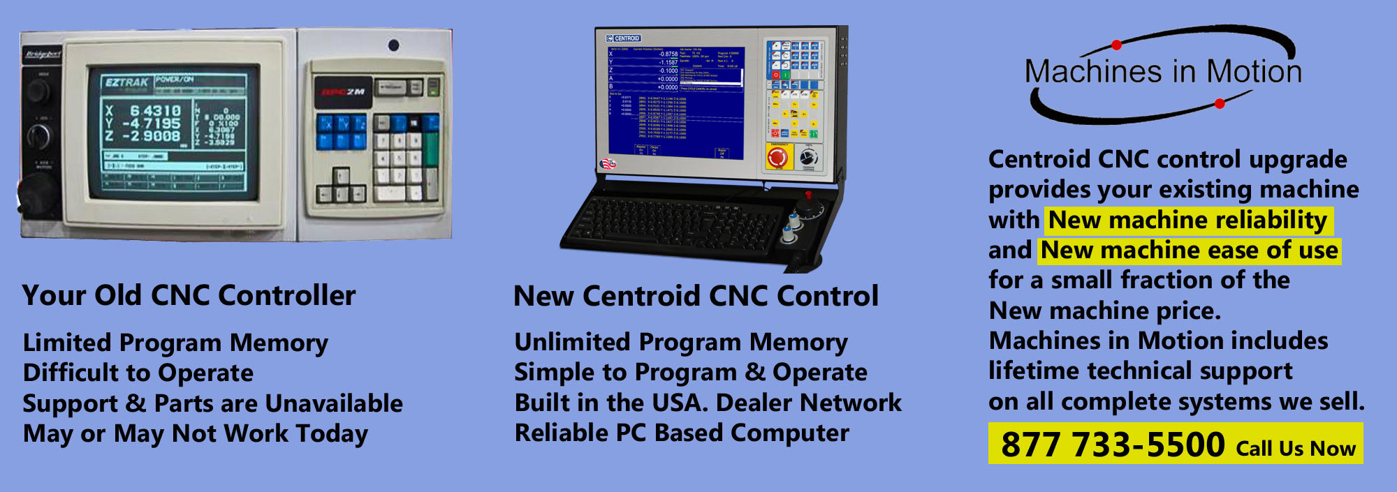 Bridgeport CNC retrofit control upgrades
